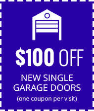 $100 Off New Single Car Garage Door