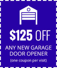 $125 Off New Garage Door Opener