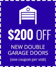 $200 Off New Double Car Garage Door